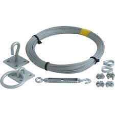 Catenary 30M Galvanised Wire Kit including accessories.