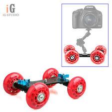 "1/4"" Hot Shoe Mount Adapter Pico Dolly Kit Skater DSLR Video Gopro Camera Truck"