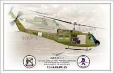 Bell UH-1D - Helicopter Profile - 128 AVN. TOMAHAWK, VIETNAM
