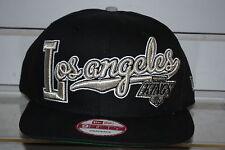 LOS ANGELES KINGS block script NHL hockey cap New Era Snapback Vintage Rare