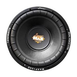 """Lanzar MAXP124D Max Pro 12"""" 1600W Power Dual 4 Ohm Car Subwoofer Audio System"""