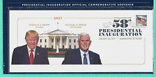 TRUMP-PENCE 2017 U.S. PRESIDENTIAL OFFICIAL INAUGURAL SOUVENIR COVER, 1-20-2017