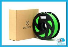 Green ABS 3D printer filament 1.75 mm 1 kg 2.2 lbs
