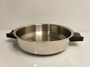 """Vintage Lustre Craft Stainless Steel 10-1/2"""" Dome Lid USA"""