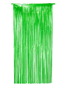 Green Foil Door Curtain shimmer metallic hanging St Patrick Day Party Decoration