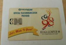 Malaysia Commonwealth Games Phone Card with Sukom 98 Logo 电话卡