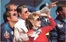 President Ronald Reagan Nancy Reagan Watching Columbia postcard