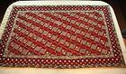 "34"" x 54"" Chain Stitched Wool Rug Prayer Boho Ethnic Geometric Maroon Orange"