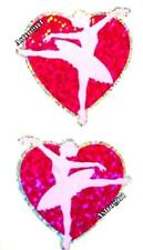 ~ Sparkle Ballerina Ballet Love Heart Pink Hambly Studio Glitter Stickers ~