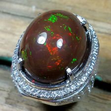 Fantastic 32.96 Ct Certified Ethiopian Chocolate Opal 360 Degree Play of Color
