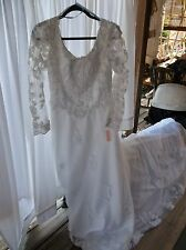 Bridal Originals White Wedding Dress With David's Bridal Tiara & Necklace LOOK!