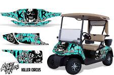EZ GO Golf Cart Wrap Graphics Vinyl Sticker Decal Kit EZGO 1996-2010 CIRCUS MINT