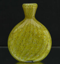 Schnupftabakglas - Bixl -Schnupftabakflasche - Zitronengelb - Mundgeblasen Nr.83