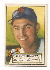 1952 Topps Monte Kennedy New York Giants #124 Baseball Card