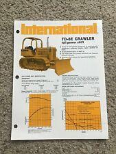 1974 International Td-8E crawler, original sales literature.