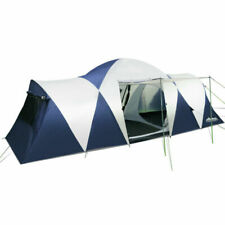 Weisshorn 12 Person Canvas Dome Camping Tent - Navy/Grey