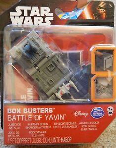 DISNEY STAR WARS BOX BUSTERS BATTLE OF YAVIN MINI PLAY SET NEW IN PACKET