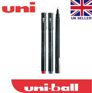 UNI PIN  0.5 mm DRAWING PEN  ULTRA FINE LINE MARKER black+blue+red pack 3