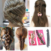 Damen Braider Magic Plait Hair Styling Tool French Twist Braid Holder FRISUREN