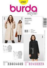 BURDA SEWING PATTERN LADIES 2 coat variants SIZE 10 - 24 6987