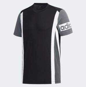 Adidas Men's Climalite Colorblock Tee Shirt, Black / Grey Six / White