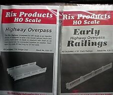 RIX Products HO Highway Overpass 628-101, & Early railings 628-104