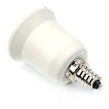 3PCS E12 to E27 Candelabra Bulb Lamp Socket Adapter Holder Converter White