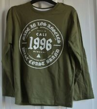 New  100% cotton long sleeve Khaki Top age 8-9 years