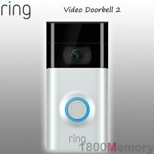 Ring Video Doorbell 2 1080p Wireless Security Camera 2 Way Audio Satin Nickel