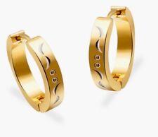 Women Men Gold Stainless Steel 20mm Small Hoop Earrings Christmas jewellery GIFT