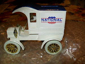 """ERTL#1342 """"NATIONAL VAN LINES #3"""" 1905 FORD DELIVERY TRUCK BANK MIB"""