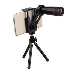 12X Zoom Optical Telephoto Telescope Camera Lens Kit Mount Tripod For Smartphone