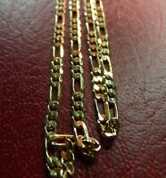 """QUALITY 18KGF Gold Filled Figaro Chain 24"""" x 3MM, Strong & won't tarnish."""