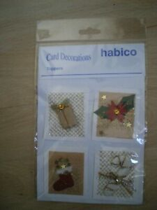 CARD DECORATIONS, HABICO, TOPPERS, NEW, CHRISTMAS