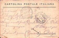 CARTOLINA POSTALE ITALIANA DA GENIO ZAPPATORE 49° RGT FANTERIA X ONZO  C10-470