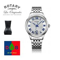 Rotary GB03037/21 Men's  Roman Numeral Stainless Steel Bracelet Watch RRP£159