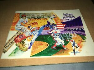 1972 Cleveland Indians Baseball Yearbook