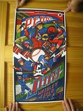 Pearl Jam Poster Wrigley Field Silk Screen Chicago Aug 20 22 2016