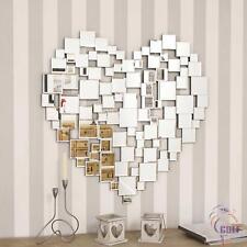 Large Modern Heart Shape Venetian Big Wall Mirror 2ft8 80cm