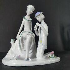 "Rosenthal Porcelain Figure "" In Love "" Couple w/Flute & Hedgehog Raymond Peynet"