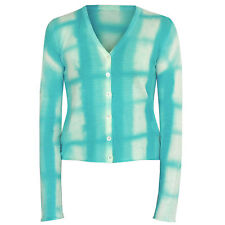 LUCIEN PELLAT-FINET soft cotton blue tie-dye plaid check cardigan sweater Small