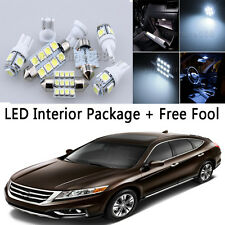 10X Bulb Car LED Interior Lights Package kit For 2010-up Honda Accord White NQ