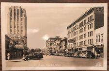 1940s Donnelly Hotel Street Scene in Yakima Washington RPPC Photo Postcard Ellis