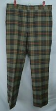 Vtg  Mens 36 x 30 ASHER Tartan PLAID  Gray