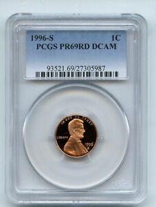 1996 S 1C Lincoln Cent Proof PCGS PR69DCAM