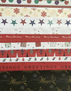 Christmas Wrapping Paper, 2, 5 sheets, Presents Gift Wrap, Modern Xmas Design