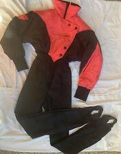 NILS Vintage Ski Suit One Piece Stirrup Snow Vintage 80's Pink/Black Size 4