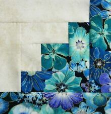 { 16 } Pre-Sewn Already Pieced Log Cabin Quilt Blocks ~ Impressions Floral