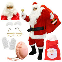 ADULTS SANTA CLAUS COSTUME PROFESSIONAL SUIT INFLATABLE BELLY FATHER CHRISTMAS