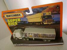 1998 MATCHBOX SUPER RIGS CAT KENWORTH TRUCK & TRAILER NEW MOC